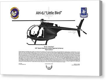 Ah-6j Little Bird Canvas Print by Arthur Eggers