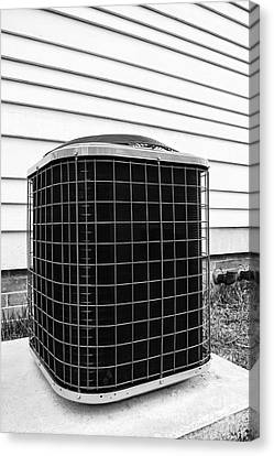Air Conditioner Condenser Canvas Print by Olivier Le Queinec