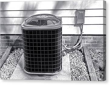 Air Conditioner Fan Canvas Print by Olivier Le Queinec