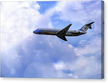 Air Force One - Mcdonnell Douglas - Dc-9 Canvas Print by Jason Politte