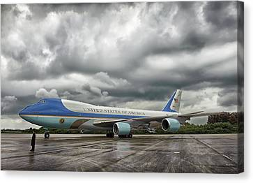 Air Force One Canvas Print by Mountain Dreams
