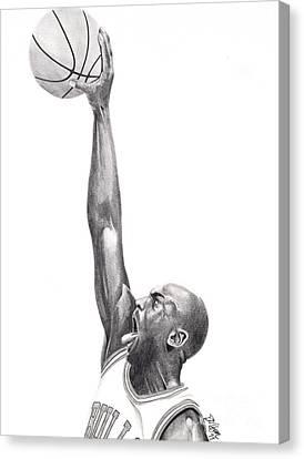 Air Jordan Canvas Print by Devin Millington