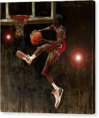 Air Jordan Canvas Print by Jumaane Sorrells-Adewale