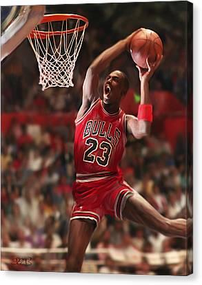 Air Jordan Canvas Print by Mark Spears