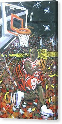 Air Jordan Canvas Print by Matt Umthun