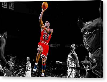 Air Jordan Return From Retirement Canvas Print by Brian Reaves