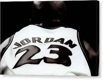 Air Jordan Six Seconds Left Canvas Print by Brian Reaves