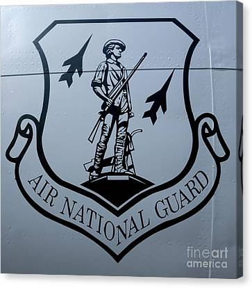 Air National Guard Shield Canvas Print by Olivier Le Queinec