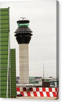 Air Traffic Control Tower Canvas Print by Ashley Cooper