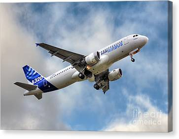 Airbus A320 Canvas Print by Steve H Clark Photography