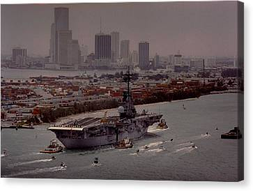 Aircraft Carrier  Canvas Print by Retro Images Archive