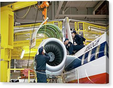Aircraft Maintenance Training Canvas Print by Jim West