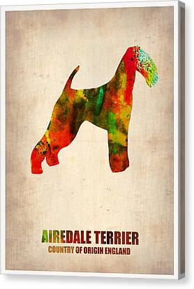 Airedale Terrier Poster Canvas Print by Naxart Studio