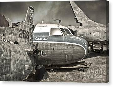 Airplane Graveyard - 02 Canvas Print by Gregory Dyer