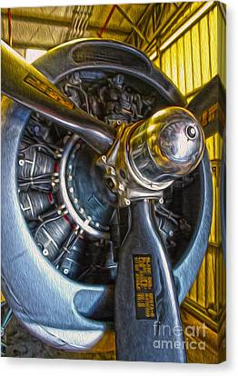 Airplane Propeller - 06 Canvas Print by Gregory Dyer