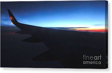 Airplane Wing - 02 Canvas Print by Gregory Dyer