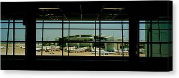 Airport Viewed Canvas Print by Panoramic Images