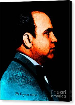 Al Capone C28169 - Black - Painterly - Text Canvas Print by Wingsdomain Art and Photography