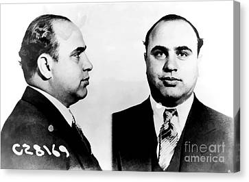 Al Capone Mug Shot Canvas Print by Edward Fielding