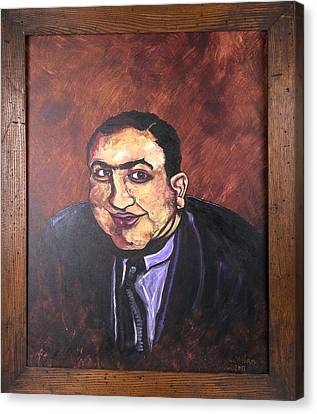 Al Capone Portrait Canvas Print by Jennifer Noren