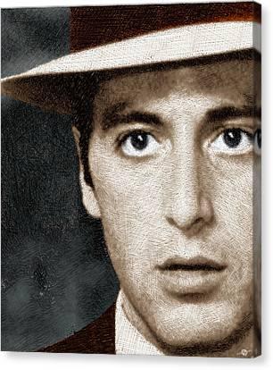 Al Pacino As Michael Corleone Canvas Print by Tony Rubino