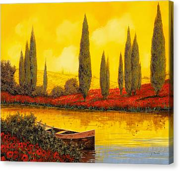 Al Tramonto Canvas Print by Guido Borelli