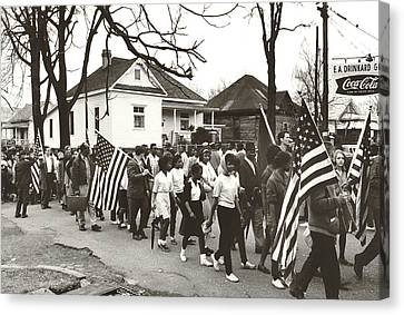 Alabama Civil Rights March Canvas Print by Peter Pettus
