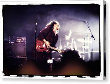 Alabama Shakes - Brittany Howard On Guitar Canvas Print by Jennifer Rondinelli Reilly