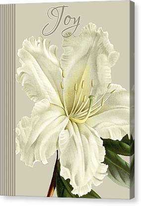 Alabaster Blossoms E Vertical 2 Canvas Print by Gail Fraser