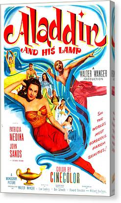 Aladdin And His Lamp, Us Poster Canvas Print by Everett