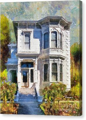 Alameda 1880 - Queen Anne  Canvas Print by Linda Weinstock