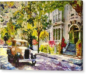Alameda  Afternoon Drive Canvas Print by Linda Weinstock