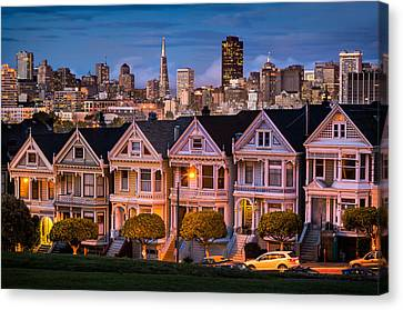 Alamo Square - Painted Ladies Canvas Print by Alexis Birkill