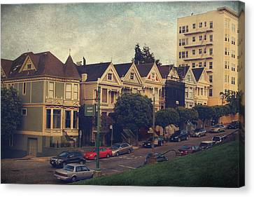 Alamo Square Canvas Print by Laurie Search
