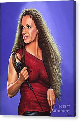 Alanis Morissette Ironic Canvas Print by Paul Meijering