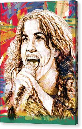 Alanis Morissette - Stylised Drawing Art Poster Canvas Print by Kim Wang