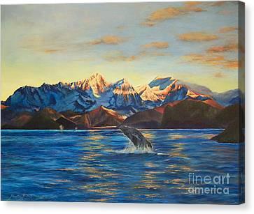 Alaska Dawn Canvas Print by Jeanette French