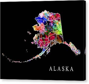 Alaska State Canvas Print by Daniel Hagerman