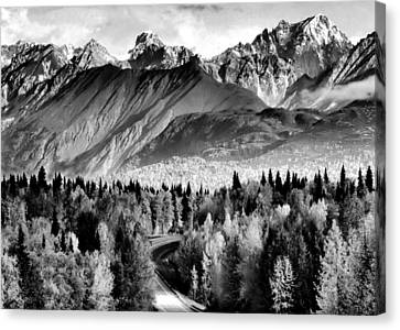 Alaskan Mountains Canvas Print by Katie Wing Vigil