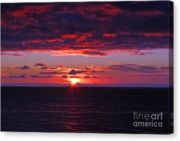 Alaskan Sunset Canvas Print by Bob Hislop