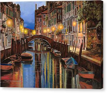 alba a Venezia  Canvas Print by Guido Borelli