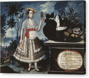 Alban, Vicente 18th C.. A Young Woman Canvas Print by Everett