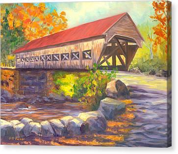 Albany Covered Bridge #49 Canvas Print by Elaine Farmer