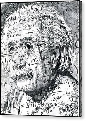 Albert Einstein Canvas Print by Kyle Willis