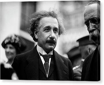 Albert Einstein Canvas Print by Library Of Congress