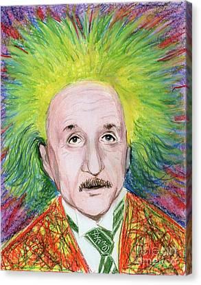 Albert Einstein Canvas Print by Yoshiko Mishina