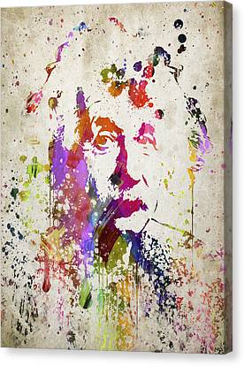 Albert In Color Canvas Print by Aged Pixel