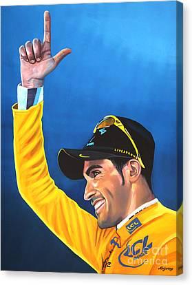 Alberto Contador Canvas Print by Paul Meijering
