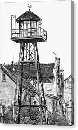Alcatraz Guard Lookout Tower Canvas Print by Erik Brede