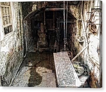 Alcatraz Island Morgue Canvas Print by Daniel Hagerman